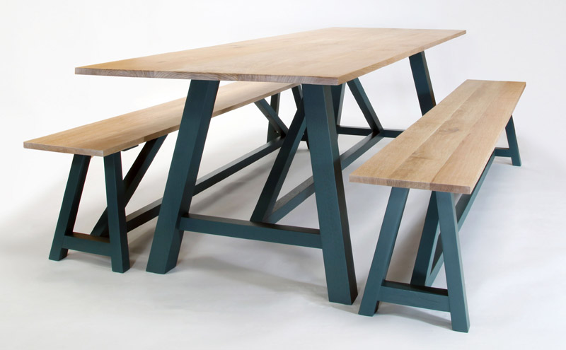 Coastal Table & Benches