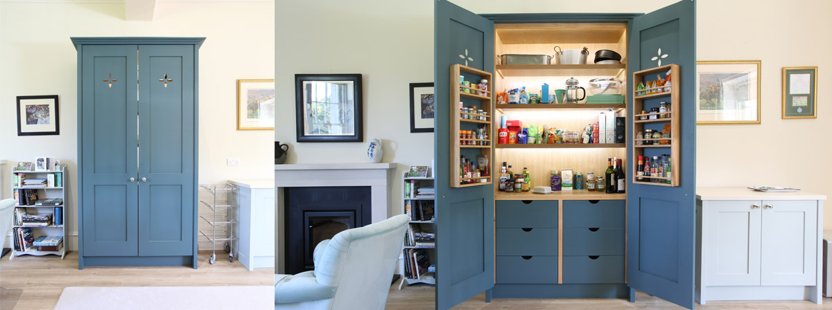 Shaker style pantry.
